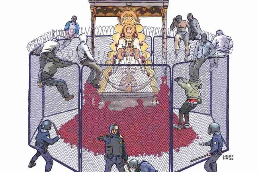 Salto de la concertina (El Rocio 2016)