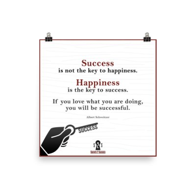 Happiness/Success Poster