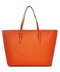 Michael Kors Orange saffiano leather tote bag, Designer
