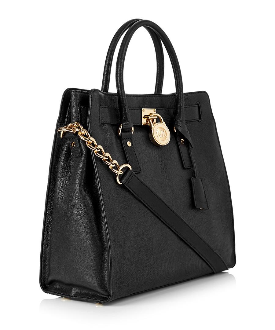 Michael Kors Hamilton large black leather tote, Designer