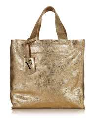 Furla Divide gold leather shopper bag, Designer Bags Sale ...