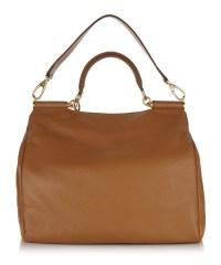 Dolce & Gabbana Camel leather chain detail handbag ...