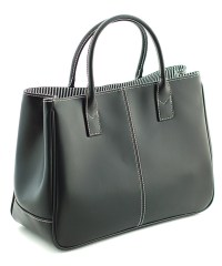CANNCI Black PU leather grab bag, Designer Bags Sale, New