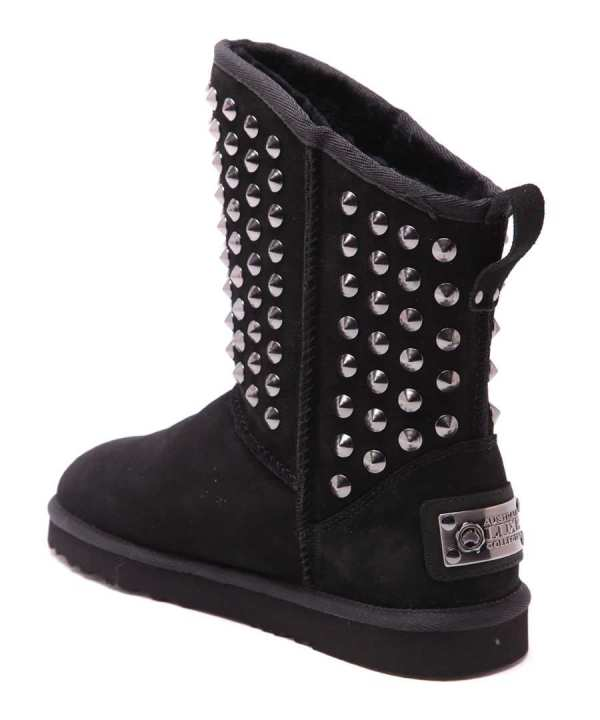 Pistol Black Studded Suede Boots