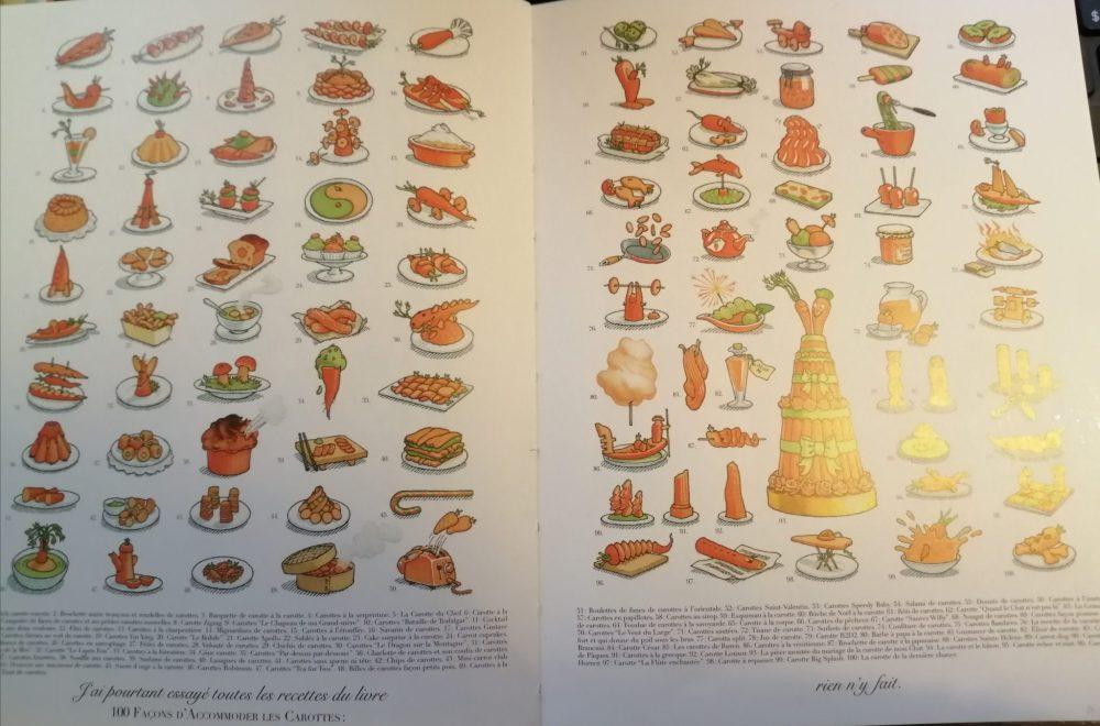 Recettes de carottes dans Madame le lapin Blanc de Gilles Bachelet