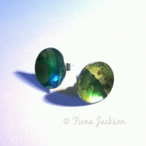 fiona Earrings stud green