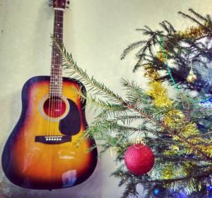 новогодняя гитара