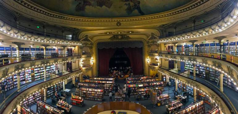 El Ateneo Bookstore Places to visit