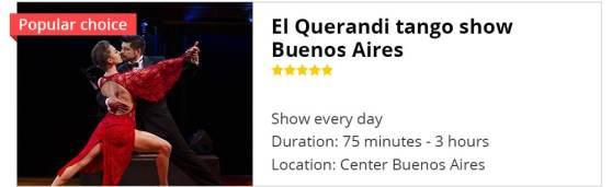 Tango show Buenos Aires El Querandi