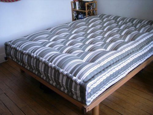 Wool mattress bed