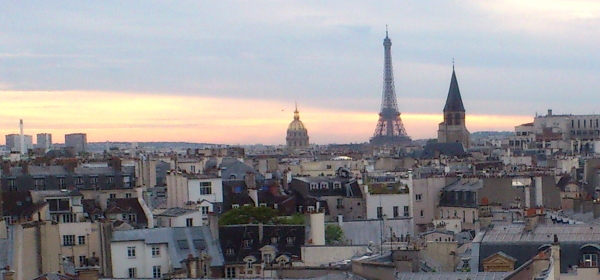Paris skyline with Eiffel Tower
