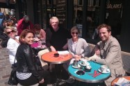 group at cafe