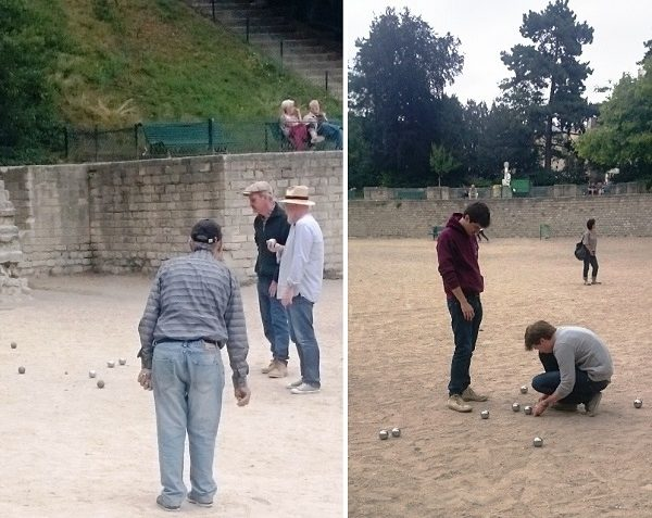 petanque at les Arenes