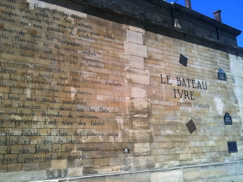 Bateau Ivre poem on wall