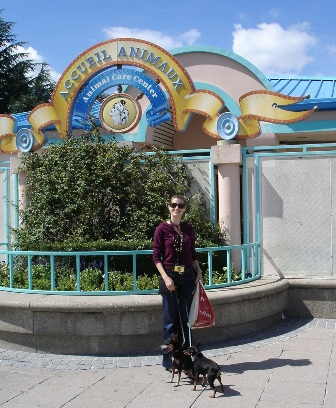 HEather and Dogs at Disney