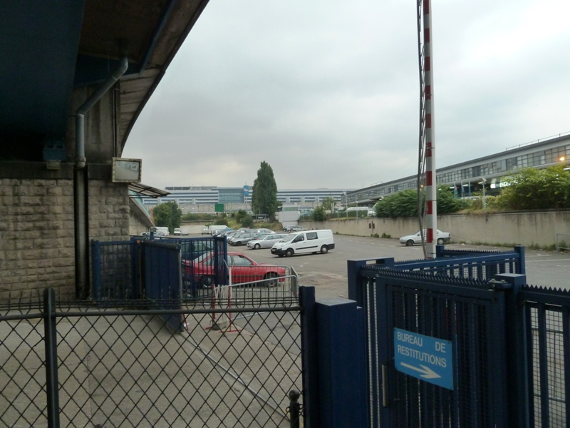 view of impound lot