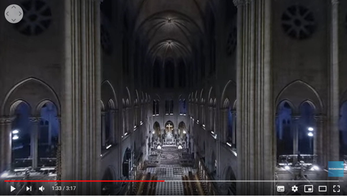 Notre Dame 360° video