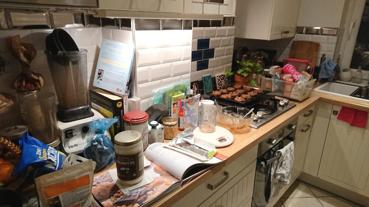 Heather's messy kitchen