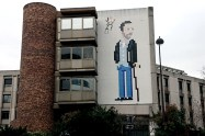 Dr House Street Art by Invader