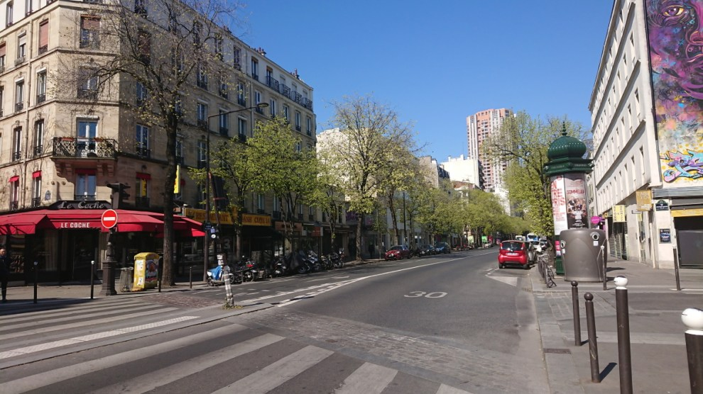 Paris street Avenue de Choisy