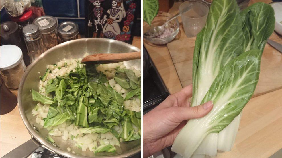 cooking swiss chard