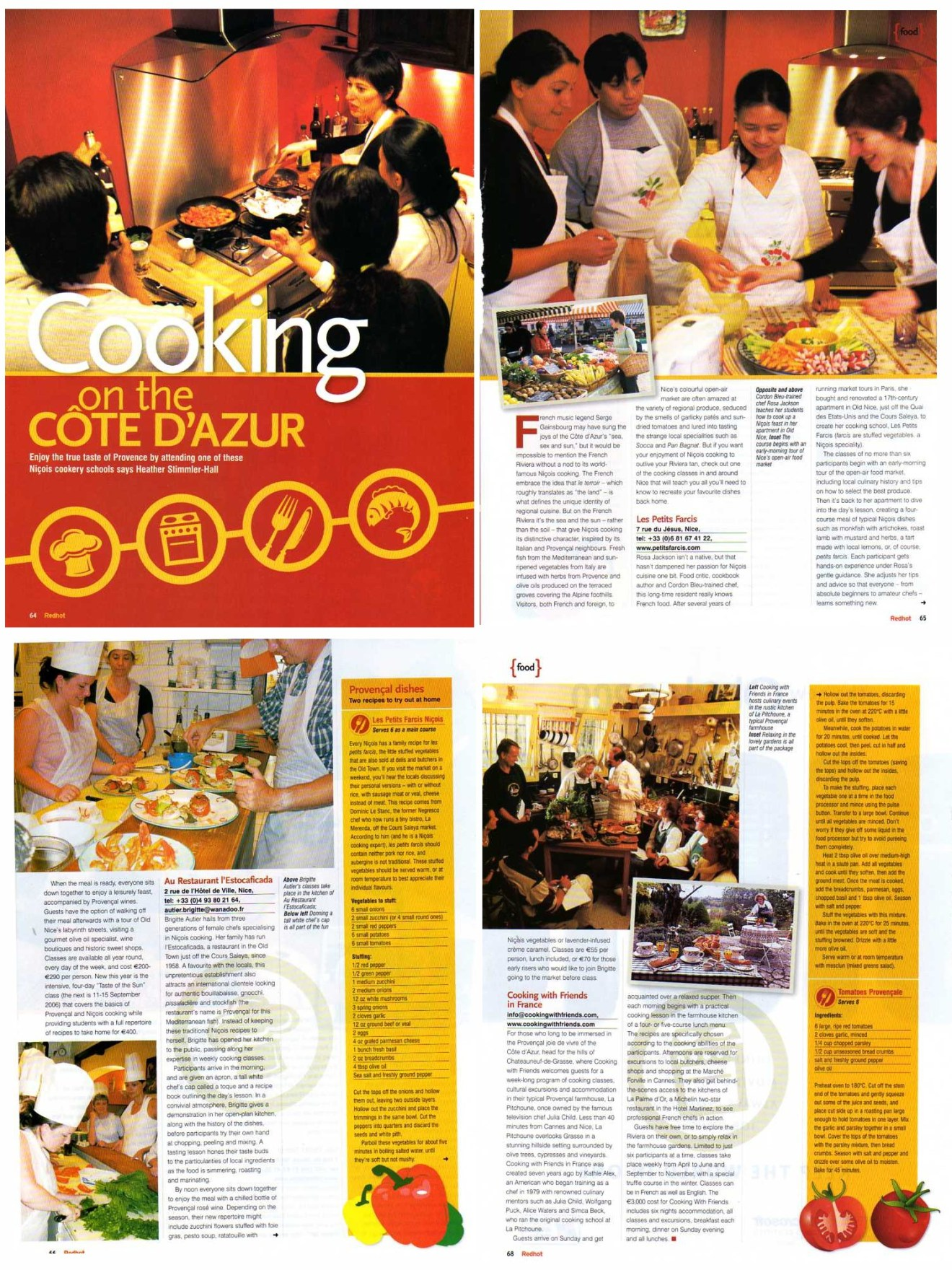 Cooking in Côte d'Azur article