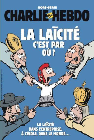 "Charlie Hebdo cover, ""Where's Lacïcité?"""