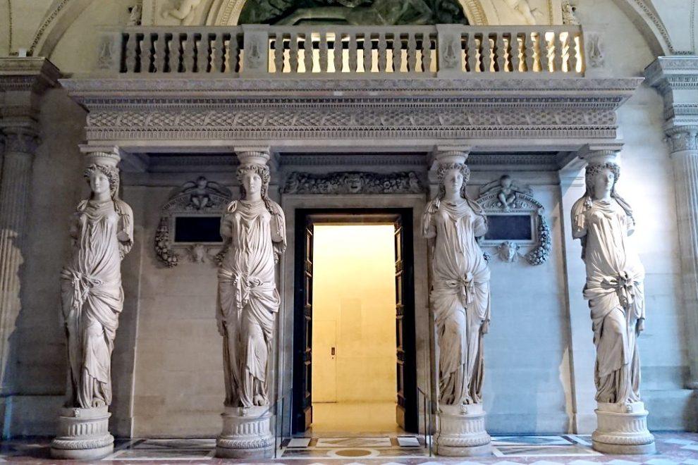 Caryatides statues