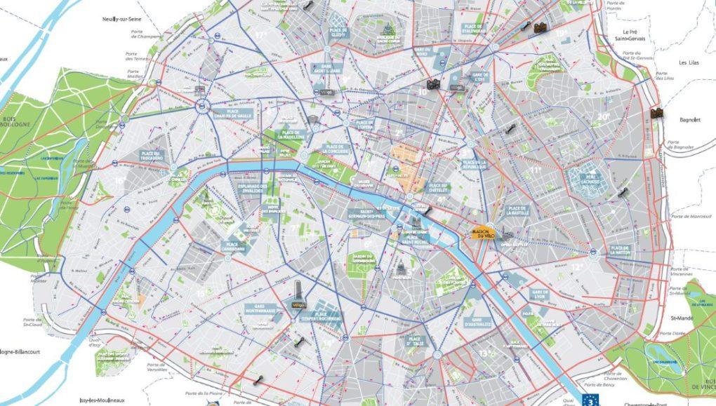 Paris Bike lane map