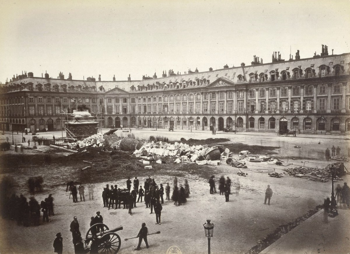 Vendome Column destroyed by Paris Commune