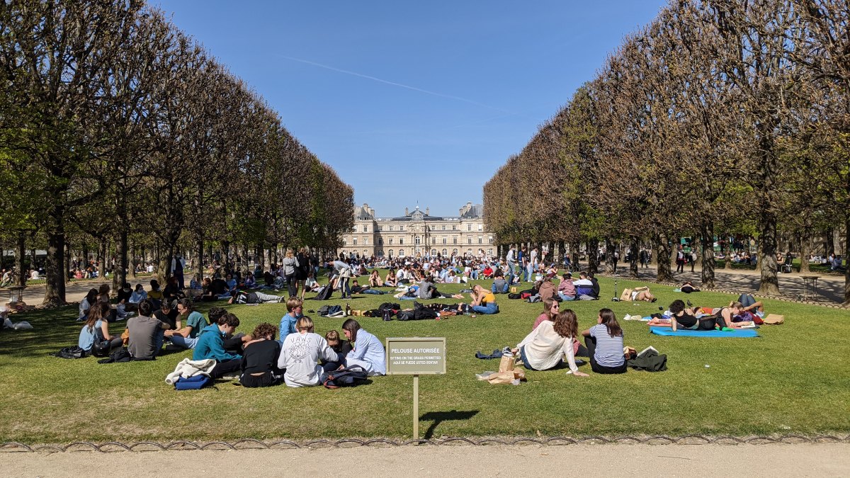 People at Luxembourg Gardens