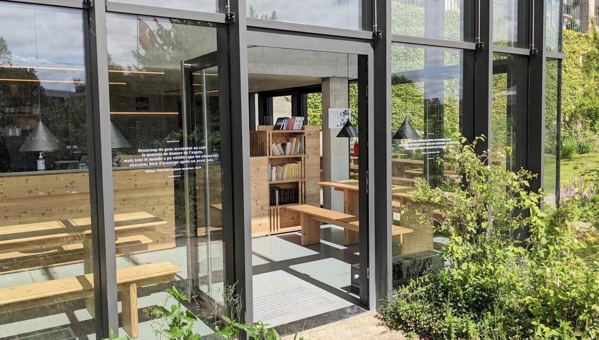 Interior of the café-tearoom