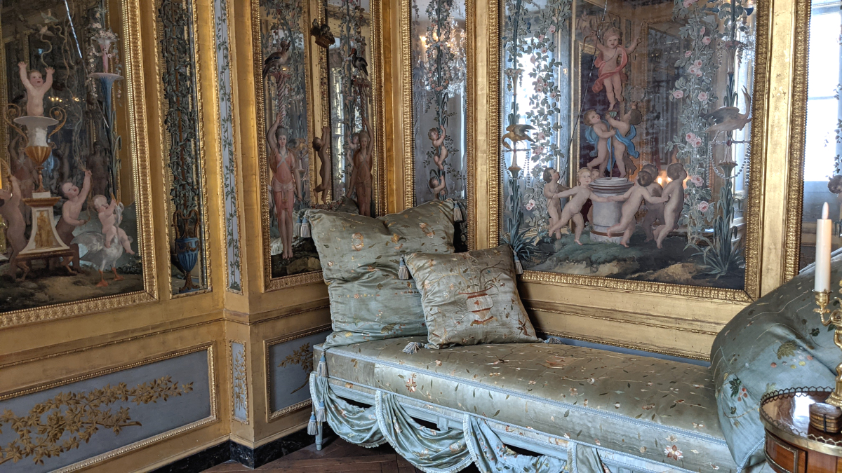 mirrored period room