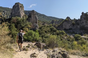 hiking in cirque de Moureze