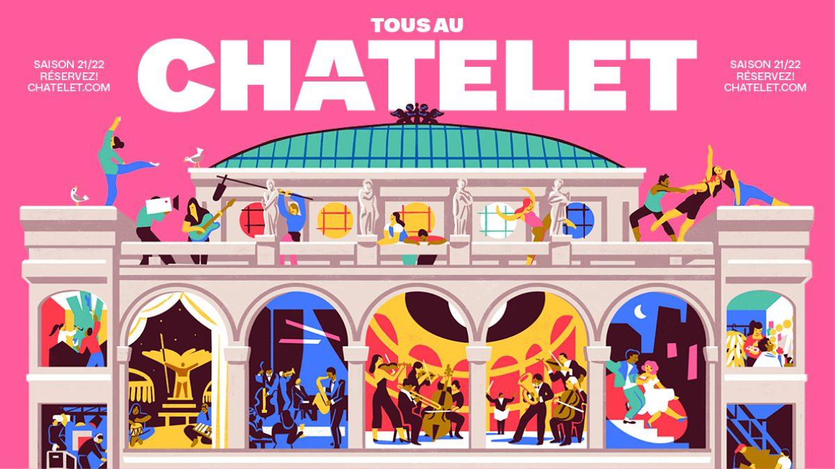 Théâtre du Châtelet © Illustration VIRGINIE MORGAND  LA SLOW – Conception BASE Design