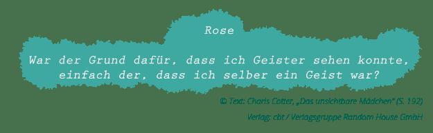 """Charis Cotter: """"Das unsichtbare Mädchen"""" (Zitat Seite 192)"""