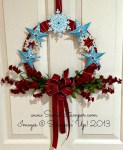 By Debbie Mageed, Wreath, Christmas Star