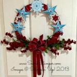A Wreath with Festive Flurry Framelits and the Christmas Star