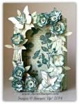 By Debbie Mageed, Wildflower Meadow, Shadow Box, Fun fold, Birthday