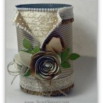 By Debbie Mageed, Upcycled crafts, Spiral Flower Die, En Francais, recycled cans