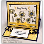 By Debbie Mageed, Bloom with Hope, A Dozen Thoughts, Easel Card, Fun Fold, Birthday