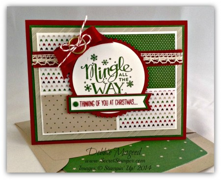 Mingle All the Way, White Christmas, Starburst Framelit, Holiday Card