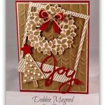 Rustic Wondrous Wreath Holiday Card