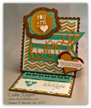 You Plus Me, Crazy about You, Sumthin' Sumthin', Mini Treat Bag Thinlits, Easel Card, Valentine, Anniversary