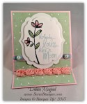 By Debbie Mageed, Mother's Love, Artisan Embellishment Kit, Easel Card, Fun Fold, Stampin Up