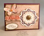By Debbie Mageed, Butterfly Basics, Daydream Medallions, Petite Pairs, Stampin Up