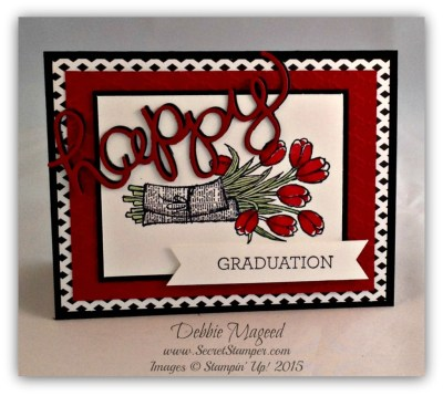 Floral Graduation Cards for Retro Rubber