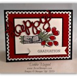 Floral Graduation Cards for Retro Rubber