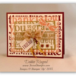 By Debbie Mageed, A World of Thanks, Awesomely Artistic, Stampin Up