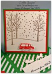 By Debbie Mageed, Festive Fireplace, Jingle All the Way, White Christmas, Sleigh Ride Edgelits, Stampin Up